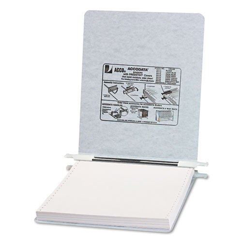 ACCO - Pressboard Hanging Data Binder, 9-1/2 x 11 Unburst Sheets, Light Gray - Sold As 1 Each - Top and bottom loading binder expandable for various sized ()