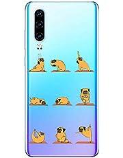Oihxse Transparente Funda para Huawei P Smart 2019/Honor 10 Lite Ultrafina Silicona Suave TPU Carcasa Interesante Perro Patrón Flexible Protectora Estuche Antigolpes Anti-Choque (A2)