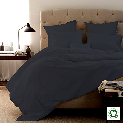 100% Organic Cotton 4pc Bed Bed Sheet Set 800 Thread Count Soft and Luxurious - King , Elephant grey by New York Rainbow