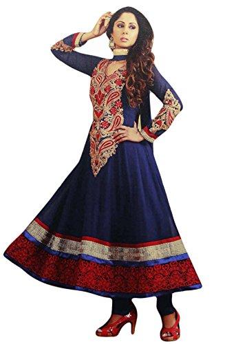 Party Wear Suit Anarkali Salwar Kameez Unstitched Georgette Embroidered Dress