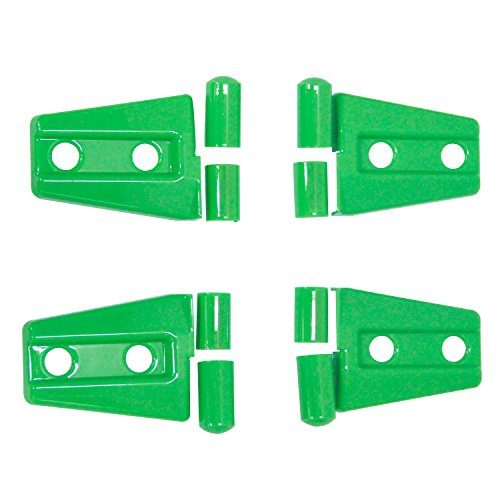 MOEBULB Engine Hood Hinge Cover Door Molding Trim for Jeep Wrangler JK 2007-2016 (2-Door, 4pcs/set, Green)