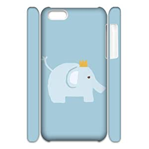C-Y-F-CASE DIY Design Cute Wild Elephant Animal Pattern Phone Case For iPhone 5C hjbrhga1544