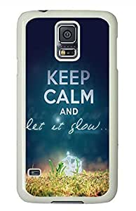 Keep Calm 73 PC White Hard Case Cover Skin For Samsung Galaxy S5 I9600
