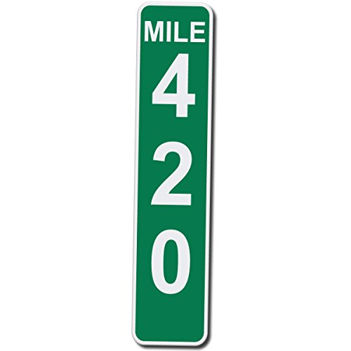 41MHKCikxdL - Mile Marker 420 - 17 Inches Tall by 4 Inches Wide Aluminum Sign (Quantity of 1)