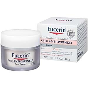 Eucerin Sensitive Facial Skin Q10 Anti-Wrinkle Sensitive Skin Creme, 1.7 Ounce Jar (Pack of 2)