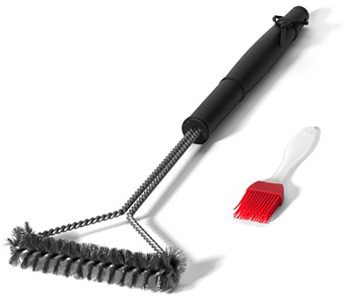 "Grill Brush 21"" - 3 Sided Barbeque Grill Cleaning Tool is Be"