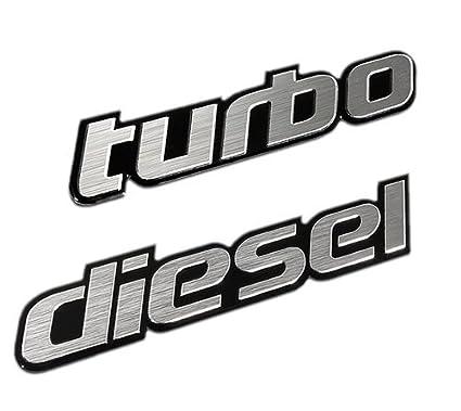 Amazon.com: Turbo+diesel Aluminum Emblem/badge/sticker Chevrolet Blazer Suburban Acura Audi BMW Universal: Automotive