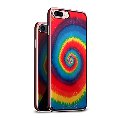 SPIRAL TIE DYE DESIGN CHROME SERIES CASE IN ROSE GOLD FOR...
