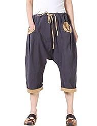 Mordenmiss Women's Haren Pants Daily Crop Jean