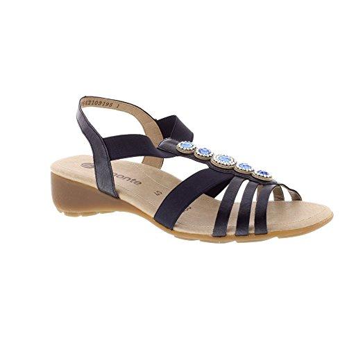 Remonte Damen Sandalen - Blau Schuhe in Übergrößen atlantic/pacific