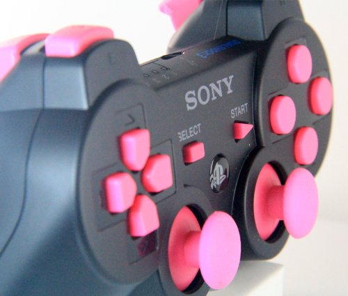 Ps3 Black with Pink Buttons Rapid Fire Modded Controller 30 Mode for COD Ghost Black Ops 2 Cod Mw3