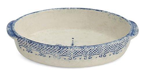 Arte Italica Burano Oval Baker, Blue