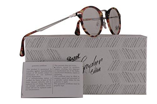 Persol PO3167V Calligrapher Edition Eyeglasses 47-22-145 Rose Brown Yellow Havana w/Demo Clear Lens 1059 PO 3167-V PO3167-V PO 3167V by Persol