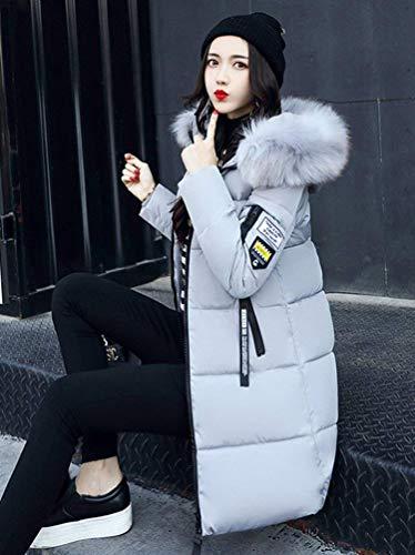 Uni Styles Femme Quilting Blouson Hiver Manche Young Rembourrage Chaud Mode Doudoune Automne FqwrxqXvB6
