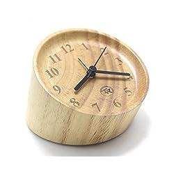 Time Roaming Creative Household - Classic Small Handmade Wooden Silent Desktop Alarm Clock
