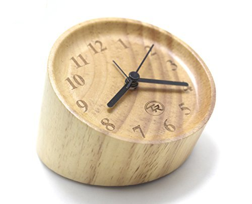Time Roaming Creative Household - Classic Small Handmade Wooden Silent Desktop Alarm Clock