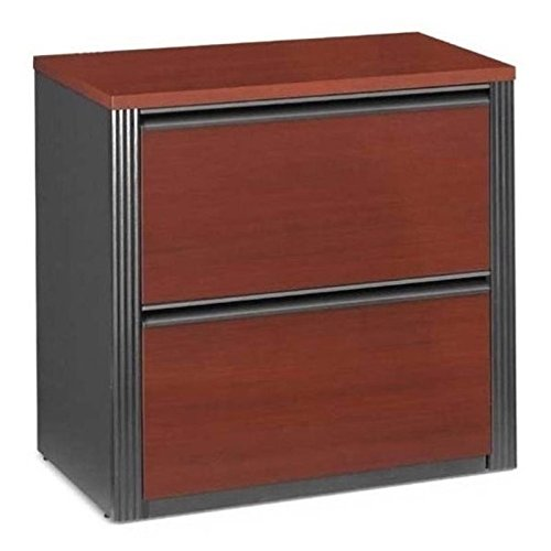 Bowery Hill 2 Drawer Lateral Wood File Cabinet in Bordeaux