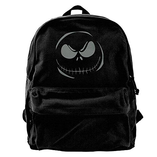 Yadiicoyo Toxic Scary Smiley Face Halloween Horror Style out of doors Backpack School Bags Travel Backpack Canvas Christmas Backpack,Durable