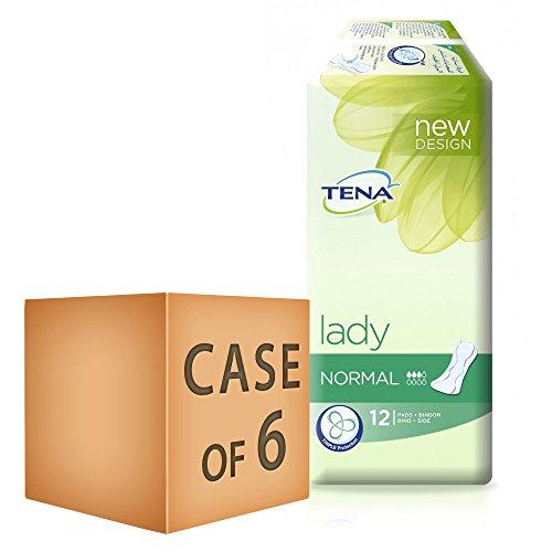 TENA Lady Normal Towels 12 per Pack - (72 Towels)