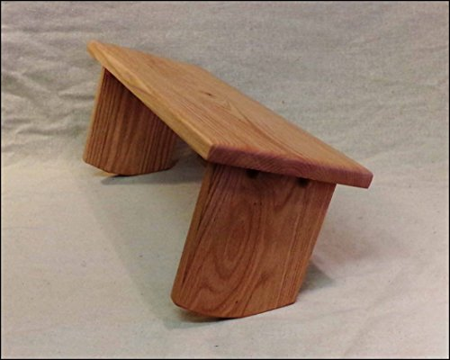 Adjustable Meditation Bench ~ Seiza Kneeling Stool - Red Oak