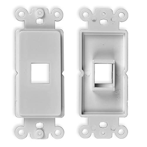 (Conwork QuickPort Decora Wall Plate Insert 1-Gang for 1-Port Keystone Jack (2-Pack))