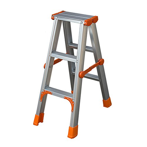 Ladder stool 3-step Home Folding Ladder Thicken Aluminum Alloy 4-step Staircase Multifunction Engineering Stepladders Lightweight Alu Step Ladder (Size : 3-step)