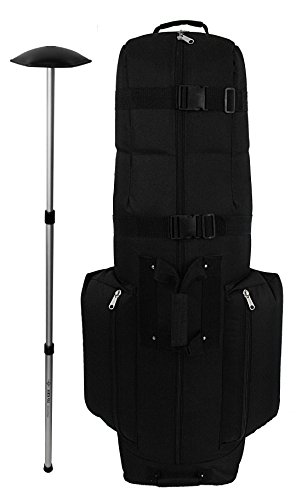 CaddyDaddy Golf CDX-10 Golf Bag Travel Cover with North Pole Club Protector, Black