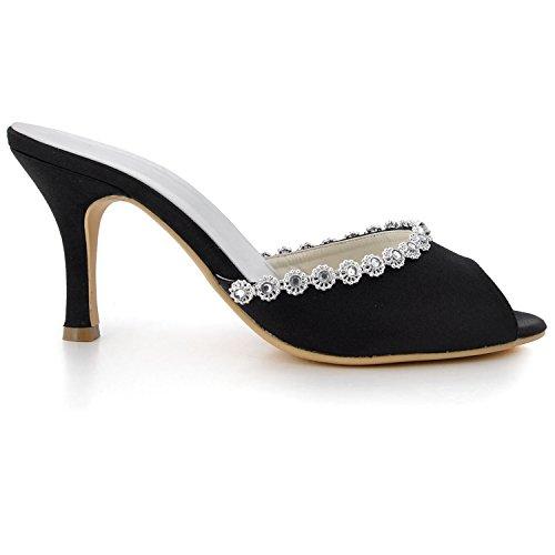 Kevin Fashion ,  Damen Modische Hochzeitsschuhe , schwarz - schwarz/schwarz - Größe: 43