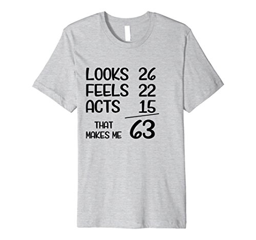 Mens Funny 1955 63 Years Old Birthday Gift T-Shirt XL Heather Grey