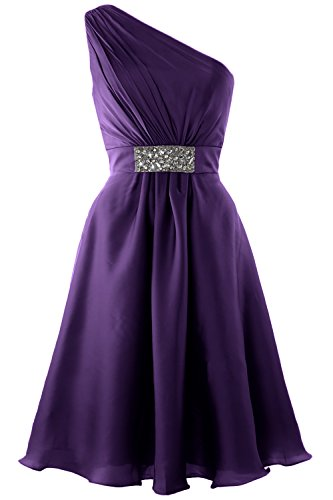 Party Violett Shoulder Dress One MACloth Cocktail Wedding Formal Elegant Gown Short wvx0gFPUq