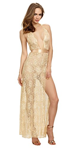 Dreamgirl-Lace-Plunge-Front-Gown-with-Halter-Neck