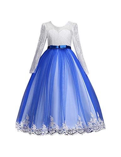 Zhhlinyuan Girls Elegant Wedding Party Pageant Dress - Ball Gown with Waistband ()