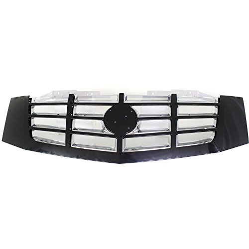 Cadillac Escalade Grille Replacement (Evan-Fischer EVA17772035574 Grille for Cadillac Escalade 07-14 Plastic Painted-Black Shell/Chrome Insert (RPO-41U))