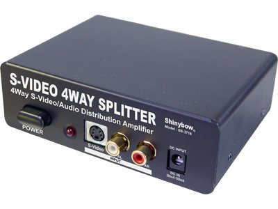 Shinybow S-video - 1:4 Shinybow S-video + Audio Distribution Amplifier Splitter