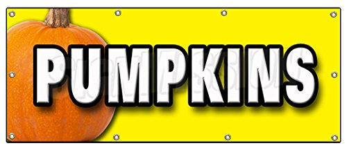 "UPC 670541440506, 36""x96"" PUMPKINS BANNER SIGN pumpkin patch halloween signs"