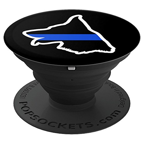 Police K9 Unit Thin Blue Line - PopSockets Grip and Stand for Phones and Tablets