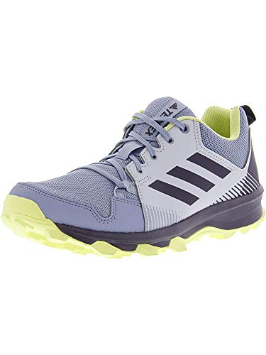 adidas outdoor Women's Terrex Tracerocker W Trail Running Shoe, aero Blue/Trace Purple/semi Frozen Yellow, 8.5 M US