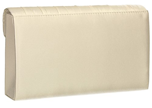 Vintage Annah Clutch Bag SWANKYSWANS Ivory Elegant Evening Bag Shoulder Beautiful Bag Prom Party Pleated Envelope Satin Wedding zgrzWfq