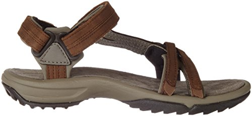 Lite Women's Sports Leather Hiking Teva Fi Outdoor Terra Brown Brn And Sandal brown tFCwSq4US