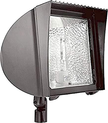 RAB Lighting FXH100XQT Metal Halide Flex Floodlight with Fixed Wall Mount, ED17 Type, Aluminum, 100W Power, 9000 Lumens, 277V, Bronze - Flood Wall Flex Mount