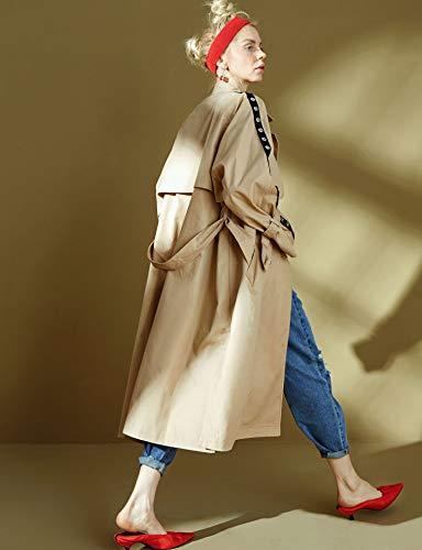 Slim Longue Kaki Trench Sack Collier Femme De Elf Coat Personnalité Veste AwPYpqnE