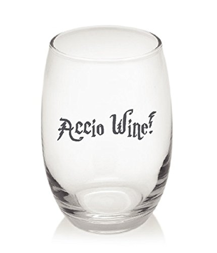 Accio Wine! Harry Potter Funny Whiskey Cocktail Stemless Wine Glass