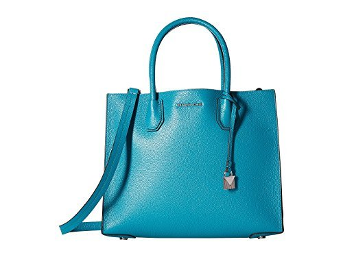 Michael Kors Mercer Large Convertible Tote TILE BLUE
