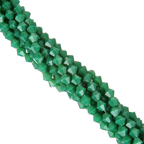 Calvas Spacer Loose Beads Wholesale New Candy Color Crystal Glass Bead 4mm 110ps DIY Jewelry Making - (Color: Malachite Green, Item Diameter: Real Color)