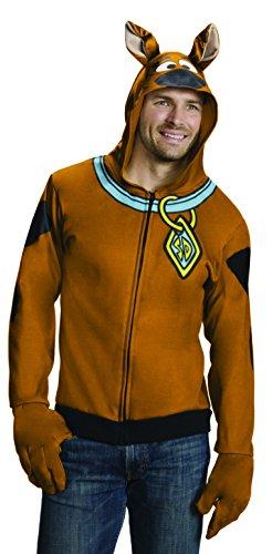 Rubie's Men's Scooby Doo Hoodie, Brown, Large ()