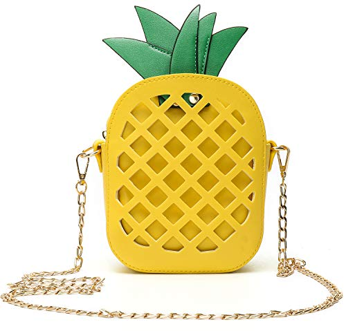 (Phone Clutch Purse Pineapple Shape for Women Girls Wallet Bags with Shoulder)