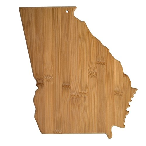 Totally Bamboo 20-7965GA Georgia State Shaped Bamboo Serving & Cutting Board