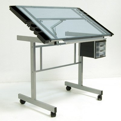 Bundle-88 Vision Station Glass Drafting Table