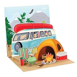 41MHSEld 5L. SS300 PopShots Studios Pop Up 3D Karte Geburtstag Grußkarte Zelt Camping Natur 13x13cm