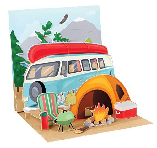 41MHSEld 5L PopShots Studios Pop Up 3D Karte Geburtstag Grußkarte Zelt Camping Natur 13x13cm